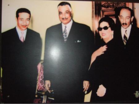 جمال عبد الناصر و انور السادات و عبد الحكيم عامر